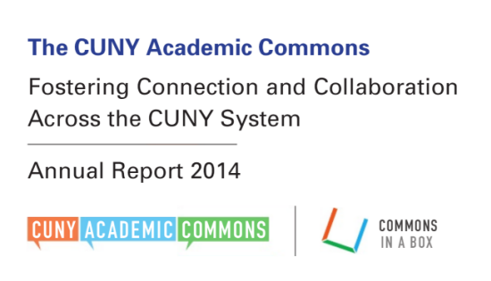 CUNY Annual Report frontpage