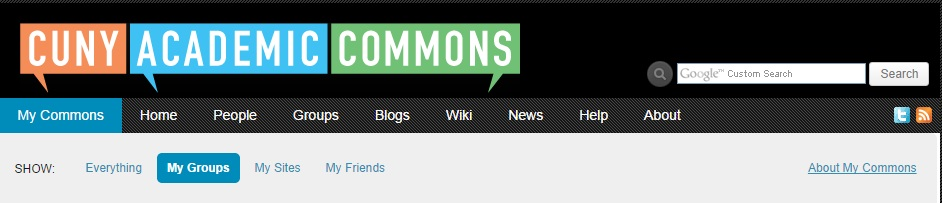 """My Commons"" Dashboard"