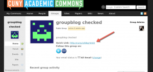cuny.is quick link for groups