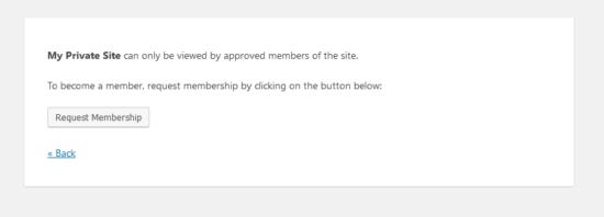 private site request screenshot