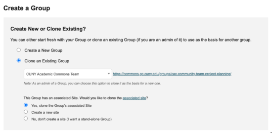 clone group screenshot