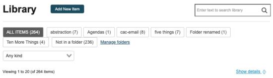 new library folder buttons screenshot